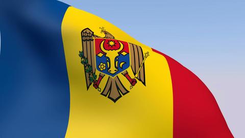 Flag of Moldova Stock Video Footage