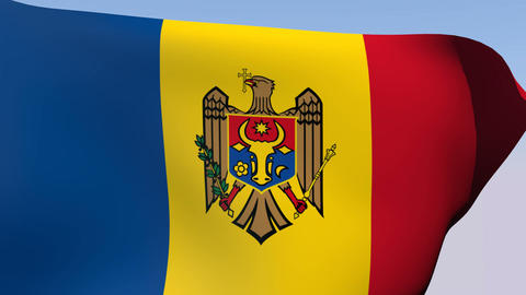 Flag of Moldova Animation