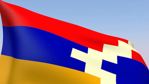 Flag of Nagorno-Karabakh Stock Video Footage