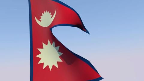 Flag of Nepal Animation