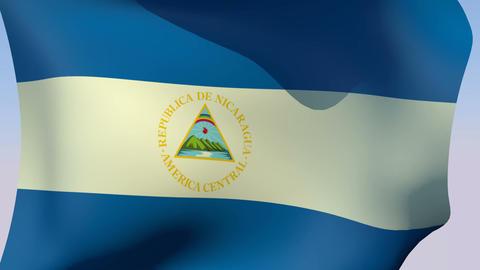 Flag of Nicaragua Stock Video Footage