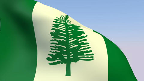 Flag of Norfolk Island Stock Video Footage