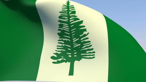 Flag of Norfolk Island Animation
