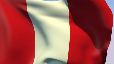 Flag of Peru Animation