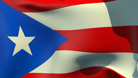Flag of Puerto Rico Animation