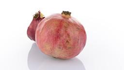 Half pomegranate fruit Stock Video Footage