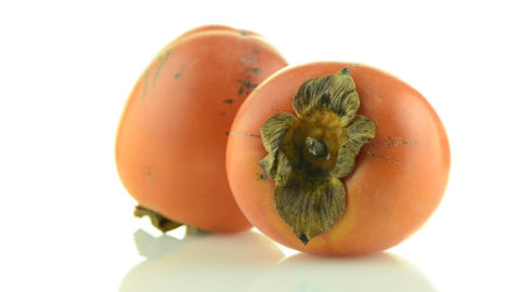 Red ripe persimmons Stock Video Footage