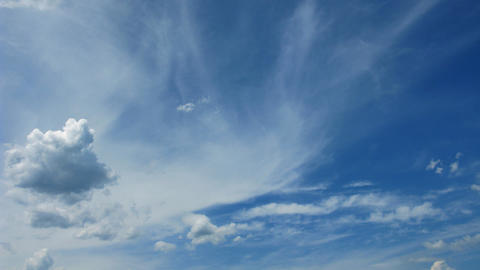 time lapse blue sky and white clouds Stock Video Footage