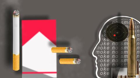 no smoking Stock Video Footage