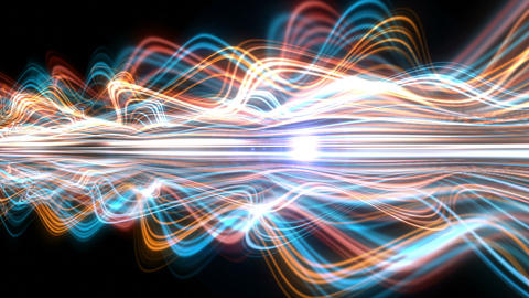 Light Streaks Background - Fractal Background 06 (HD) Animation