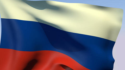 Flag of Russia Animation