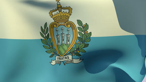 Flag of San Marino Animation