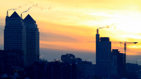 time lapse city on sunset Stock Video Footage