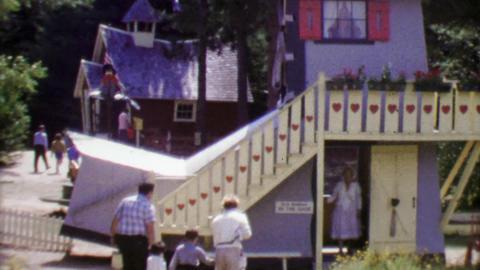 1964: Storyland fantasy nursery rhyme-themed attractions kids park Footage