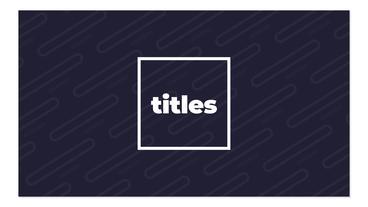 Cool Titles モーショングラフィックステンプレート