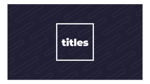 Cool Titles Motion Graphics Template