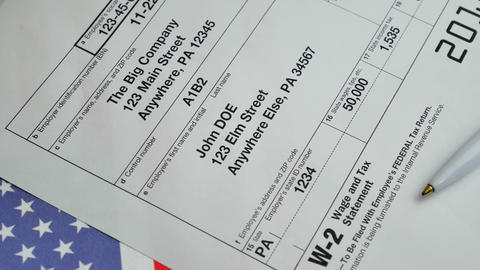 W-2 Taxes Form 2018 for man person GIF