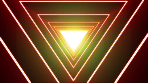 Abstract Background Loop With Neon Shiny Triangle Animation