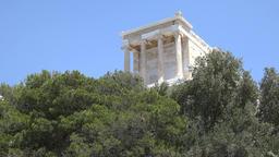 Greece Athens Temple of Athena Nike on Acropolis Mountain ビデオ