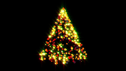 Glowing Christmas Tree Stock Video Footage