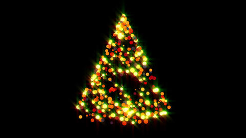 Glowing Christmas Tree Animation