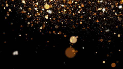 Gold Particle Overlay Animation