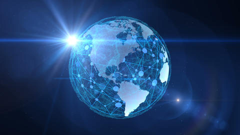 The global network encompasses the planet Earth.Virtual digital communication GIF