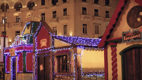 Thessaloniki, Greece Christmas 2018 decorations at Aristotelous square Archivo