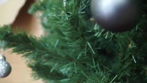 Christmas Balls on Christmas Tree ビデオ