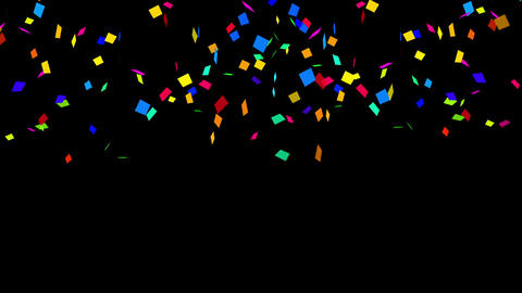 Confetti Party Cracker Colorful Animation