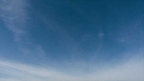 Full HD time lapse of beautiful sky, clouds fly away, no birds ビデオ