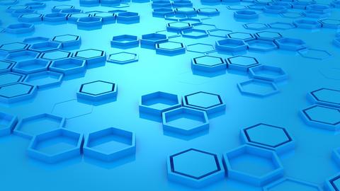 Background of Hexagons Animación