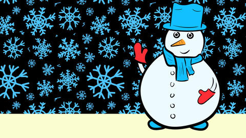 Christmas snowmen and sale blue snow Stock Video Footage