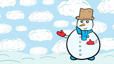 Snowman and clouds Animation