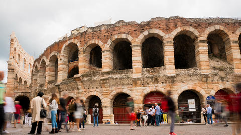 timelapse Arena di Verona, destination for all tourists looking for romance and Footage