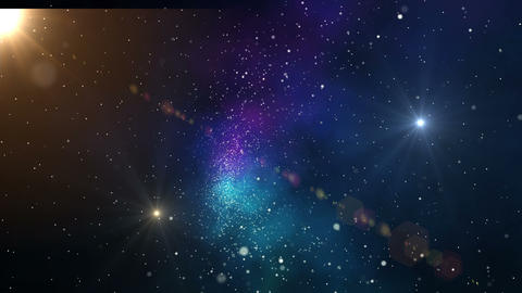 Galaxy background.Heavenly cosmic clouds.Stars flying through the universe Animation