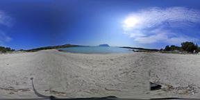360 vr video of Lu Impostu beach on a sunny day. Sardinia, Italy VR 360° Video