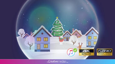 Snow Globe Reveal II - After Effects Template 애프터 이펙트 템플릿
