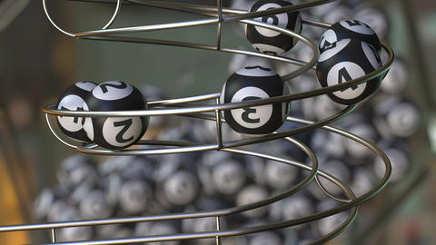 Lotto balls make up number 1 2 3 4 5 6 sequence Live Action