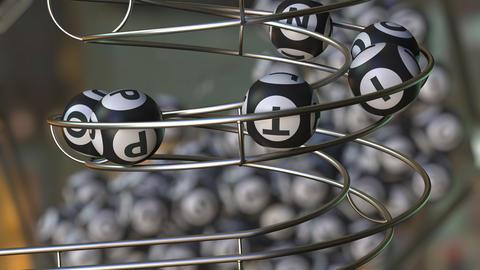 Lotto balls make up OPTION word ライブ動画
