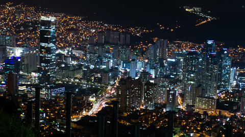 4K Timelapse City Night View, Busan, South Korea stock footage