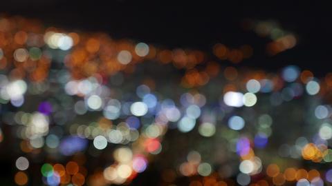4K City Night View, Defocus, Out Focus, Busan, South Korea stock footage