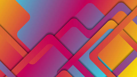 Vibrant gradient abstract geometric video animation Animation