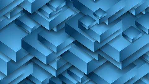 Abstract blue technology 3d shapes video animation Animation