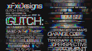 Glitch text effects toolkit 30 title animation After Effects Template
