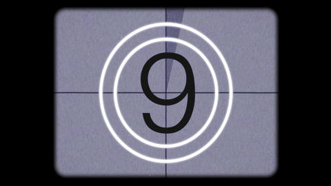 Super 8mm Film Leader Countdown Final Animation