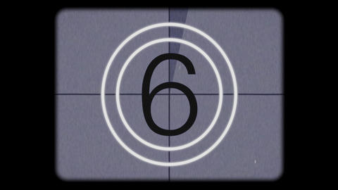 Super 8mm Film Leader Countdown Final Stock Video Footage