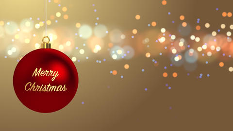 Merry Christmas Background Stock Video Footage