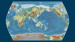 Angola. Times Atlas. Relief Animation