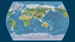 Chad. Times Atlas. Topographic Animation